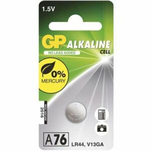 GP Alkalická knoflíková baterie GP LR44 (A76F), blistr 1041007611