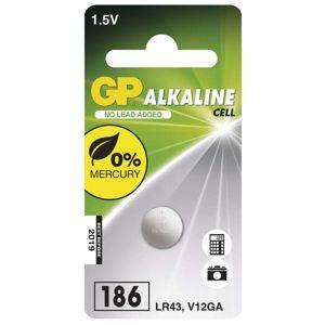 GP Alkalická knoflíková baterie GP LR43 (186F), blistr 1041018611