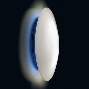 Ailati LED nástěnné světlo Bis s modrou základnou, IP44