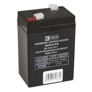 EMOS Bezúdržbový olověný akumulátor 6V 4Ah pro svítilny 3810 1201000100