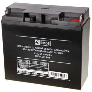 EMOS Bezúdržbový olověný akumulátor 12V 18Ah 1201000900