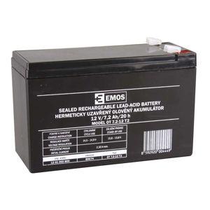 EMOS Bezúdržbový olověný akumulátor 12V 7,2Ah faston 6,3 mm 1201002800