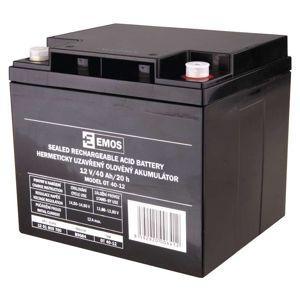 EMOS Bezúdržbový olověný akumulátor 12V 40Ah M6 1201003700