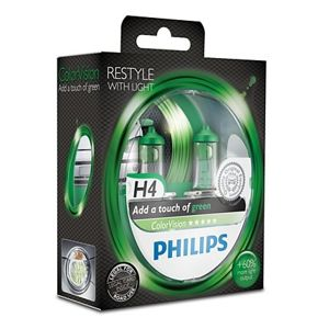 Philips ColorVision Green 12342CVPGS2 H4 P43t-38 12V 60/55W