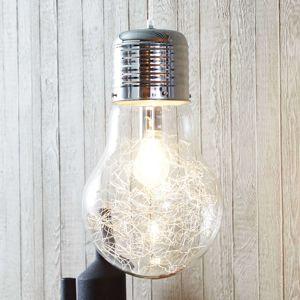 Brilliant Duhové skleněné závěsné světlo Bulb, chrom