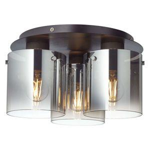 Brilliant Stropní světlo Beth kouřové sklo, třížárovkové