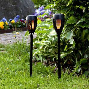Best Season LED solární světlo Flame sada po 2ks