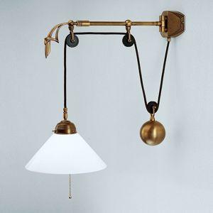 Berliner Messinglamp Nástěnné světlo Gregory z mosazi