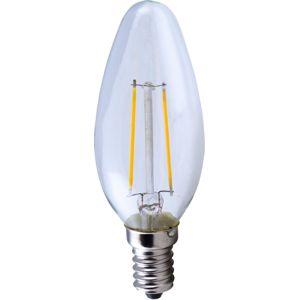 TECHLAMP LED B35 2W/827 E14 CLEAR Teplá bílá Čirá