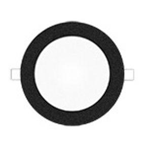 Mivvy LED podhledové svítidlo SLIM VOLCANO BLACK 180 mm 11W/3000K SLM183KB Teplá bílá