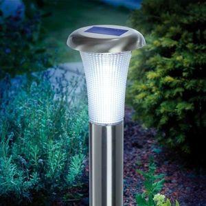 Esotec Vesuv LED solární svítidlo ušlechtilá ocel