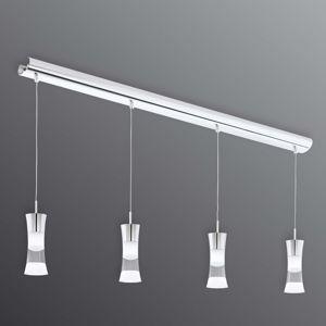 EGLO 4zdr. závěsné světlo LED Pancento z oceli