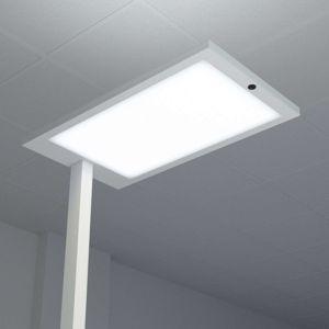 Arcchio Kancelářská LED lampa Almira, stmívač, stříbrná