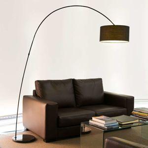 FARO BARCELONA Dekorativní obloukové svítidlo PAPUA, černé