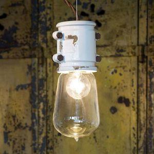 Ferro Luce Bílé závěsné světlo Nicolo minimalistický design