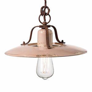 Ferro Luce Keramické závěsné světlo Giorgia, 30 cm, růžové