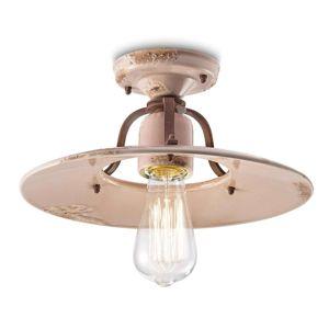 Ferro Luce Keramické stropní světlo Giorgia růžové, 30 cm