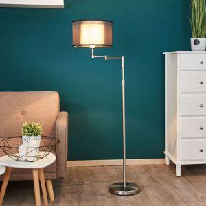 Freelight Textilní stojací lampa Tomia, stínidlo z organzy