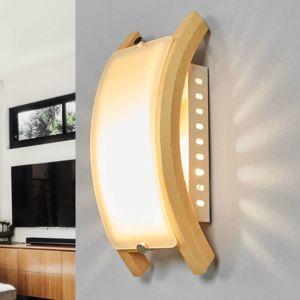Globo Nástěnné svítidlo ADMIRAL, E14 dřevo světlé
