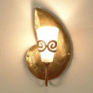 J. Holländer Nástěnné světlo šnek Rifugio, vypouklé doprava