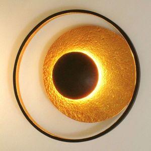 J. Holländer Nástěnné světlo Satellite zlatohnědá, Ø 40 cm