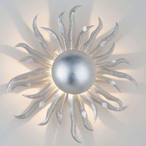J. Holländer Nástěnné světlo Slunce Ø 45 cm stříbrné