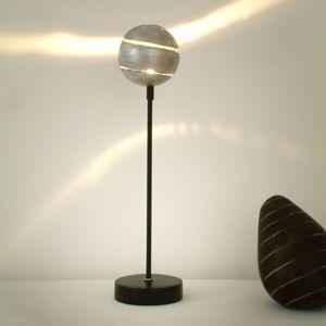 J. Holländer Dekorační stolní lampa KULOVÝ BLESK STŘÍBRO železo
