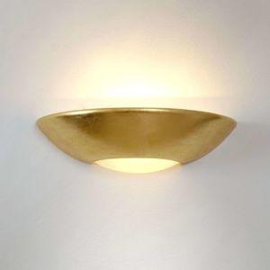 J. Holländer Jednoduché nástěnné světlo Matteo, zlaté