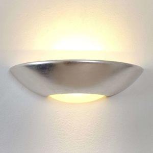 J. Holländer Jednoduché nástěnné světlo Matteo, stříbrné