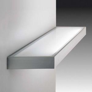 HERA Dekorativní skleněné regálové světlo nerez 60 cm