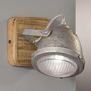 FISCHER & HONSEL Nástěnné světlo Old se dřevem ve stylu vintage