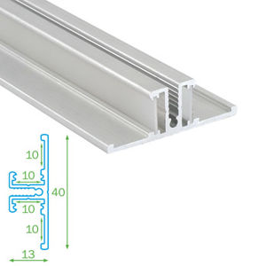 FKT AL profil pro LED pásky s plexi FKU55 - 1m 4737623
