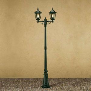 Konstmide Stožárové svítidlo Firenze, 2 lucerny, zelené