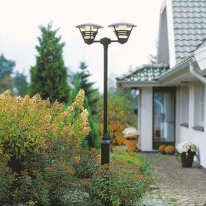 Konstmide Dvoužárovkové stožárové svítidlo GEMINI černé