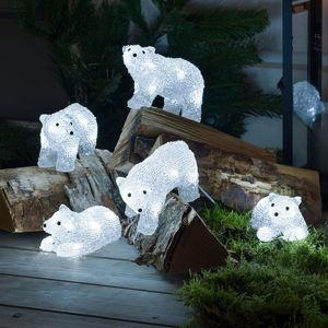 Konstmide CHRISTMAS LED osvětlení - lední medvěd pro exteriér, 5 ks
