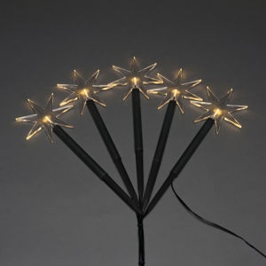 Konstmide CHRISTMAS LED venkovní dekorace hvězda, 5ž., s hrotem