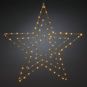 Konstmide CHRISTMAS LED dekorativní světlo zlatá hvězda 66 x 64 cm