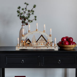 Konstmide CHRISTMAS LED vánoční oblouk svíčky trafo nebo baterie