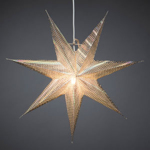 Konstmide CHRISTMAS Dekorativní hvězda z papíru, stříbrná, 7cípá