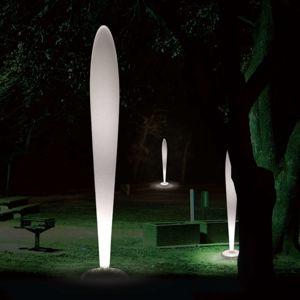 Linea Light Bílá designová stojací lampa PEGGY venkovní, E27