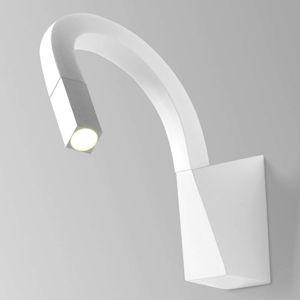 Linea Light Ohebné LED nástěnné světlo Snake v bílé