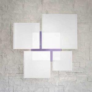 Lam Stropní světlo QUADRIFOGLIO 8050, fialové, 36 cm
