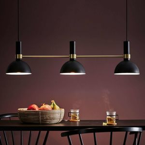 Markslöjd Závěsné světlo Larry, tři žárovky, černá-mosaz