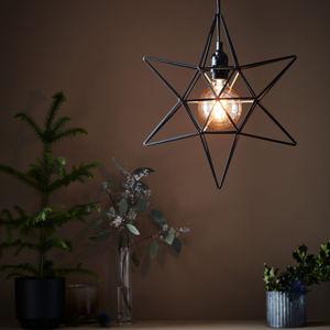 Markslöjd Dekorační hvězda Contour jako závěsné světlo černá