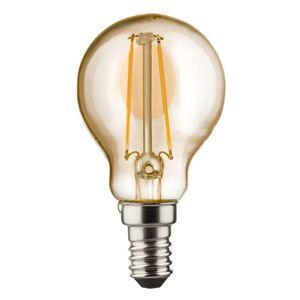 Müller-Licht E14 2W 820 LED kapková žárovka zlatá