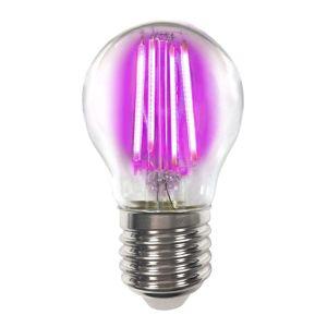 Megaman Barevná E27 4W LED žárovka Filament, růžová