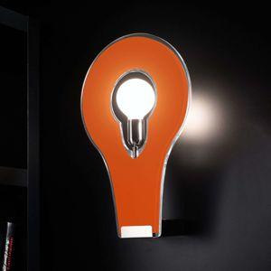 Selene Designové nástěnné světlo Flat 50 oranžové