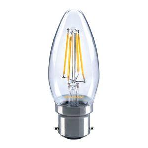 Sylvania B22 4W 827 LED svíčková žárovka, čirá
