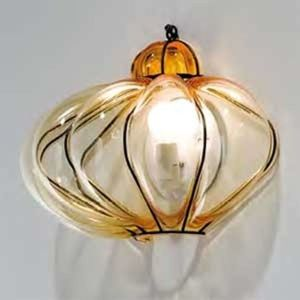 Siru Nástěnné světlo SULTANO ze skla Murano, 33 cm