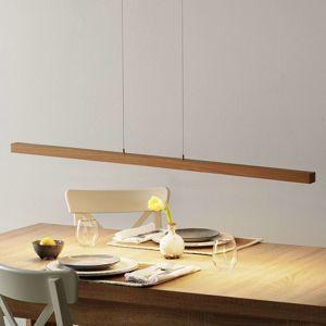Lucande Lucande Lucyana LED závěsné světlo, dub, 120 cm